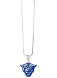 Royal Blue Enamel Georgia State Panthers Pendant Necklace