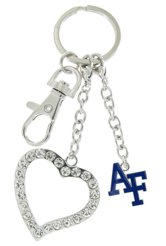 Air Force Academy AF Love Combo Key Chain with Clear Heart