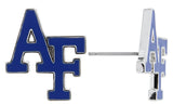 Mini Royal Blue Enamel Air Force Academy AF Stud Earrings