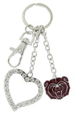 Maroon Missouri State Bears Love Combo Key Chain with Clear Heart