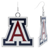 "Arizona XXL ""A"" Game Day Enamel Fish Hook Earrings"