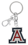 "Large Crystal Arizona ""A"" Key Chain"