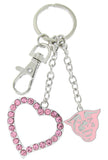 Pink Georgia State Panthers Love Combo Key Chain