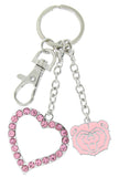 Pink Missouri State Bears Love Combo Key Chain