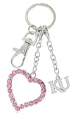 Pink Kansas KU Love Combo Key Chain