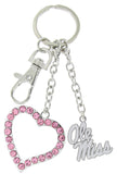 Pink Ole Miss Love Combo Key Chain