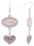 Pink Georgia Love Fish Hook Earrings