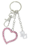 Pink Boston BU Love Combo Key Chain