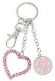 Pink FAMU Love Key Chain
