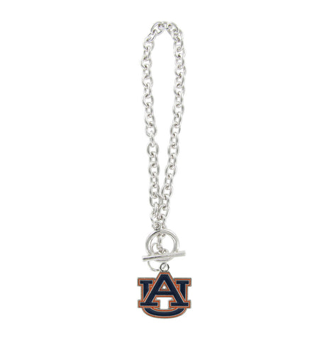 Navy and Orange Auburn AU Toggle Chain Bracelet