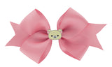 Korilakkuma Ribbon Bow Hair Clip - Pink