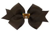 Rilakkuma Ribbon Bow Hair Clip - Brown