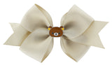 Rilakkuma Ribbon Bow Hair Clip - Beige