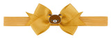 Rilakkuma Ribbon Bow Elastic Hairband - Yellow