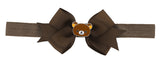 Rilakkuma Ribbon Bow Elastic Hairband - Brown