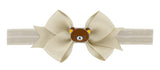 Rilakkuma Ribbon Bow Elastic Hairband - Beige