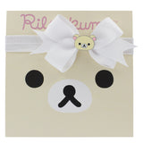 Korilakkuma Ribbon Bow Elastic Hairband - White