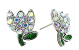 Spring's Mini Tulip Stud Earrings - Aurore Boreale