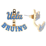 Blue Ucla BRUINS Ear Jacket and Stud Set