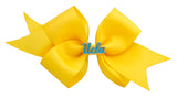 Blue and Yellow UCLA Medium Yellow Ribbon Bow Alligator Clip