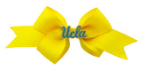 Blue and Yellow UCLA Small Yellow Ribbon Bow Alligator Clip