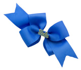 Blue and Yellow UCLA Medium Blue Ribbon Bow Alligator Clip