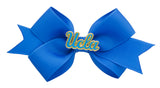 Blue and Yellow UCLA Small Blue Ribbon Bow Alligator Clip