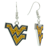 Yellow Crystal Flying WV Fish Hook Earrings