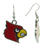 Red and Yellow Louisville Cardinals Fish Hook Earrings