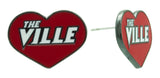 Red Enamel Louisville Love Heart Stud Earrings