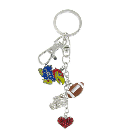 Kansas Jayhawks Football Combo Key Chain