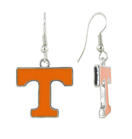 Orange Tennessee Fish Hook Earrings