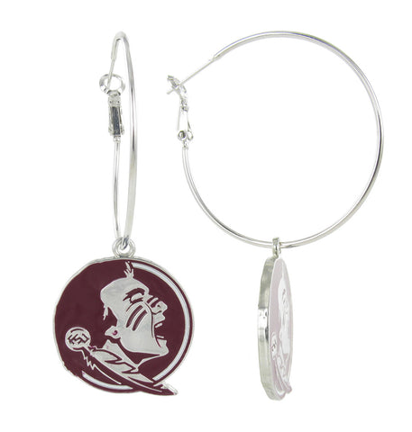 FSU Seminoles Hoop Earrings