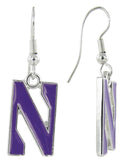 Northwestern N Logo Fish Hook Earrings