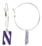 Northwestern N Logo Hoop Earrings