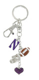 Northwestern Wildcats Football Combo Key Chain