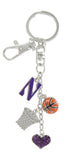 Northwestern WildCats Basketball Combo Key Chain