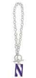 Northwestern N Logo Toggle Chain Bracelet