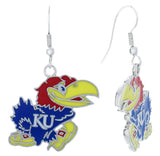 Kansas Jayhawks Fish Hook Earrings