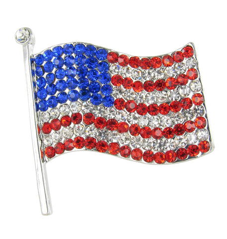 Large American Flag Brooch Pin