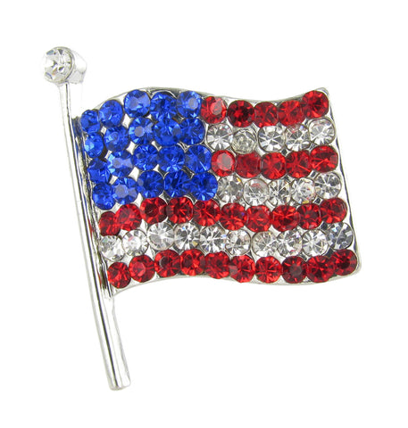 Medium American Flag Brooch Pin