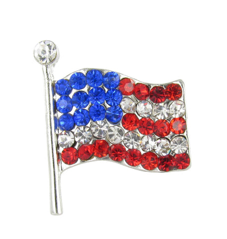 Small American Flag Brooch Pin