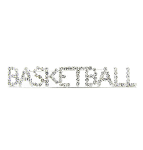 Basketball Word Brooch Pin