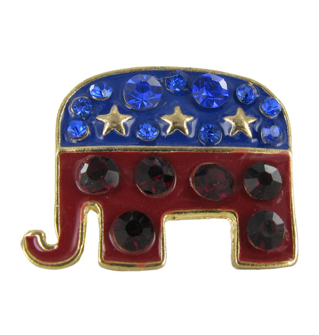 Small Republican Elephant Brooch Pin