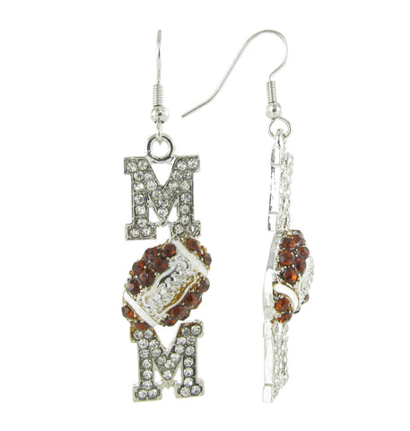Football Mom Fish Hook Earrings
