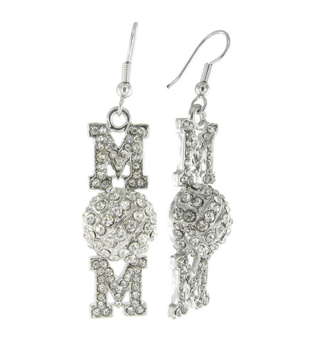 Volleyball Mom Drop Fish Hook Earrings