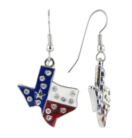 Lone Star State Texas USA Fish Hook Earrings