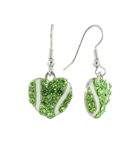 Mini I Love Tennis Fish Hook Earrings