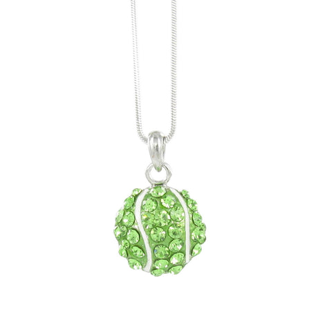 Small Tennis Ball Pendant Necklace