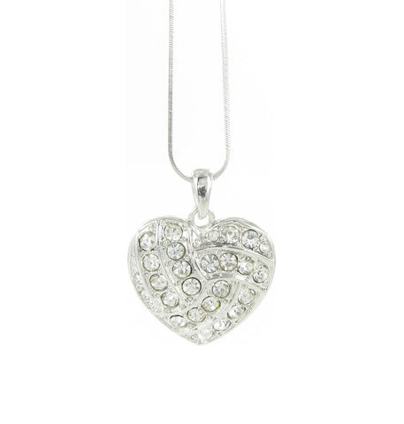 Large Volleyball Love Heart Shaped Pendant Necklace